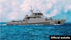 Ракетно-артиллерийский корабль в казахстанской акватории Каспийского моря, 17 июля 2015 года.