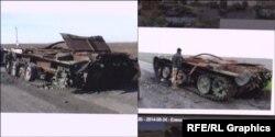 Порівняння фото танку Т-72 на сайті ГПУ і і проросійського форуму