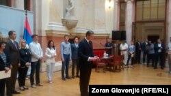 Aleksandar Vučić predstavlja sastav svog budućeg kabineta, Beograd, 8. avgust 2016.