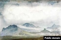 Картина Максиміліана Волошина «Карадаг у хмарах»