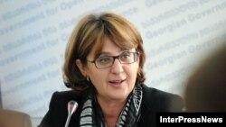 Грузия сыртқы істер министрі Майя Панджикидзе. Тбилиси, 29 сәуір 2013 жыл.