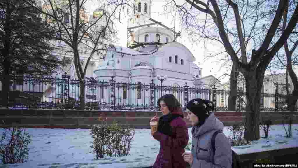 Строительство новой части Александро-Невского собора