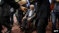 Iranian Foreign Minister Mohammad Javad Zarif departed the two days of nuclear talks in Geneva this week in a wheelchair.