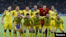 Сборная Казахстана по футболу перед матчем с российской командой. Нур-Султан, 24 марта 2019 года.
