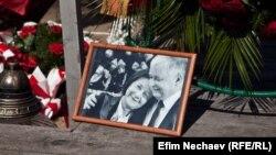 Pamje nga një përkujtim për tragjedinë në Smolenks me ç'rast humbi jetën edhe presidenti i atëhershëm i Polonisë, Lech Kaczynski