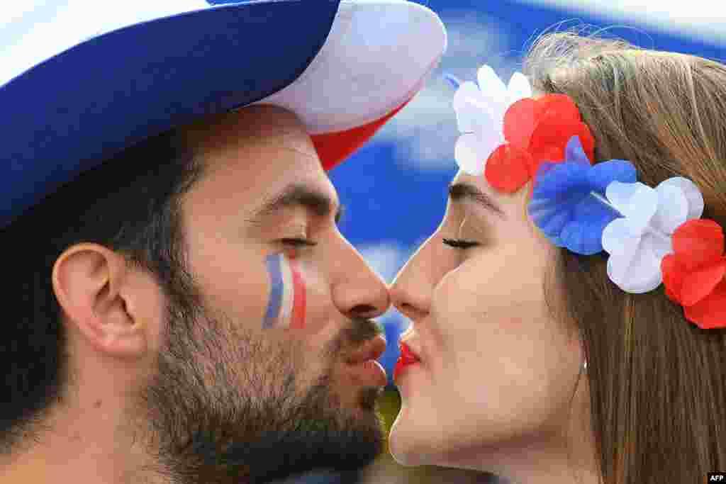دو هوادار تیم فرانسه