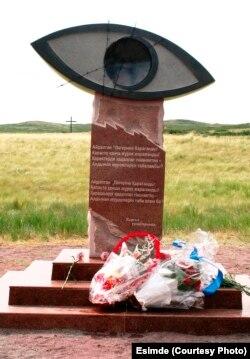 Памятный знак жертвам политических репрессий. Поселок Спасск, Карагандинская область.