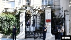 The Iranian Embassy in Paris after it was attacked on September 15.