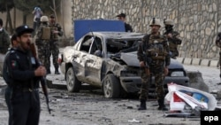 File photo of a bomb attack in Kabul in March