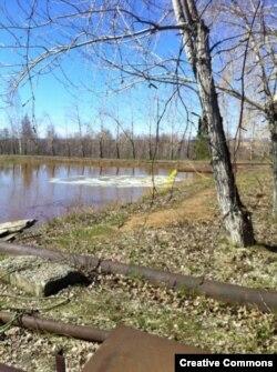 Загрязненная река в Первоуральске