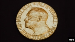 Нобельдің бейбітшілік сыйлығы иегеріне тапсырылатын медаль.