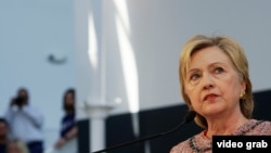 Кандидат в президенты США от Демократической партии Хиллари Клинтон.