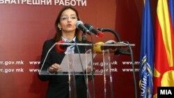 Министерката за внатрешни работи, Гордана Јанкулоска