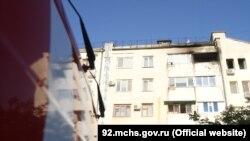 Пожар доме на улице Тараса Шевченко, Севастополь