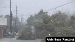 Пуэрто Рикодо ураган учурундагы көрүнүш. 6-сентябрь, 2017-жыл.