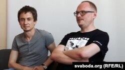 Дзьмітры Фрыга (зьлева) і Андрэй Курэйчык