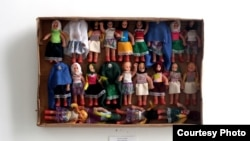 """""""I was trying to show that with a little creativity you can give meaning to things that you would normally throw away,"""" Masoud Hasan Zada says of his art, which incorporates ordinary objects such as these dolls."""