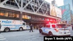 Поліція біля місця вибуху в Нью-Йорку, 11 грудня 2017 року