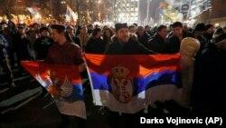 Jedan od protesta protiv Zakona o vjeroispovjesti u Beogradu