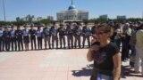 Kazakhstan - Nur-Sultan. Mother protest. Nur-Sultan 3Jun2019