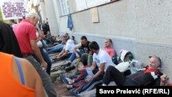 Štraj radnika Metalca u Podgorici, septembar 2014.