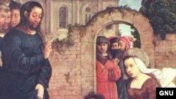 این نقاشی با الهام از معجزه مسیح زنده شدن لازاروس را نشان می دهد.