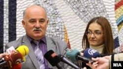 Марко Зврлевски, Јавен обвинител и Гордана Јанкулоска, министер за внатрешни работи.