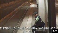 تصویر فرد مظنون که از سوی پلیس پاریس منتشر شده