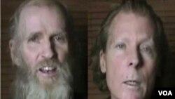 کوین کینگ (چپ) و تیموتی ویکس استادان پوهنتون امریکایی-افغانستان