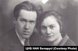 Уладзімер Дубоўка з жонкай Марыяй, 1927. Фота: ЦНБ НАН Беларусі