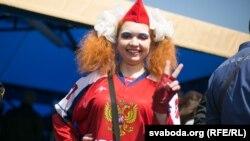 Belarus - Russian fans in the World Hockey Championship, Minsk, 17May2014