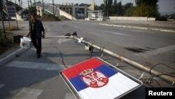 Flamuri i Serbisë - veriu i Mitrovicës/ foto nga arkivi