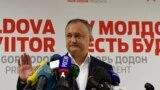 Igor Dodon după alegerile din 13 noiembrie