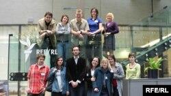 Palacky University students visit RFE/RL Headquarters. Prague, Czech Republic May 7, 2010.