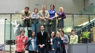 Czech Republic -- Palacky University students visit RFE/RL Headquarters, 07may2010