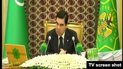 Türkmenistanyň prezidenti Gurbanguly Berdimuhamedow. Arhiw suraty