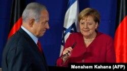 Kancelarja gjermane, Angela Merkel dhe kryeministri izraelit, Benjamin Netanyahu.