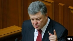 """President Petro Poroshenko told parliament on June 4 that more than 9,000 Russian soldiers are currently in Ukraine, and that Ukraine's military must be prepared for the possibility of """"a full-scale invasion along the entire length of the border with Russia."""""""