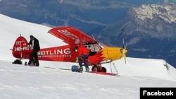 Швейцарский самолёт на Монблане