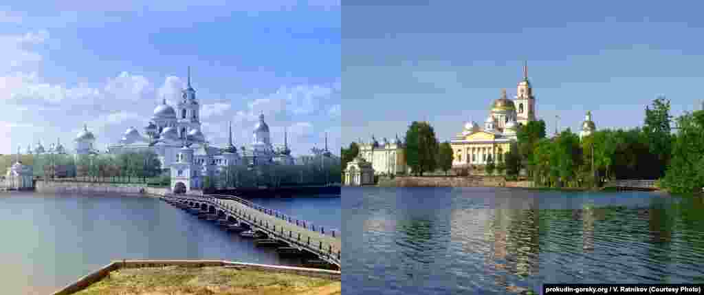 Another view of Nilov Monastery. 1910/2010