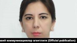 Заместитель директора Агентства информации и массовых коммуникаций (АИМК) при администрации президента Узбекистана Наргиза Рахимова.