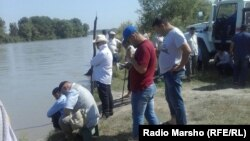 Chechnya. The Terek River. The search for the drowned