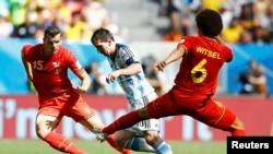 Фрагмент матча Аргентина - Бельгия