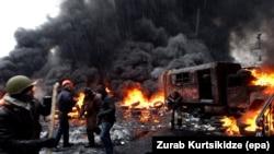 Ոստիկանության հետ բախում Եվրոմայդանում, 22-ը հունվարի, 2014