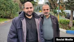 محمد مساعد در کنار پدرش