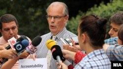 Изјава за медиумите на Питер Ванхаут во Скопје.