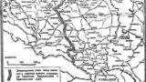 """""""Linia de demarcație"""" stabilită de Pactul Molotov-Ribbentropp, publicată în """"Izvestia"""" la 18 septembrie 1939, o zi după invazia sovietică în Polonia"""