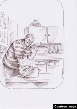 Горенштейн-кулинар. Рисунок Ольги Юргенс