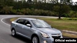Asaka avtomobil zavodida yig'ilishi rejalashtirilgan Chevrolet Cobalt mashinasi.