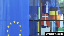 Zastave zemalja EU u Briselu